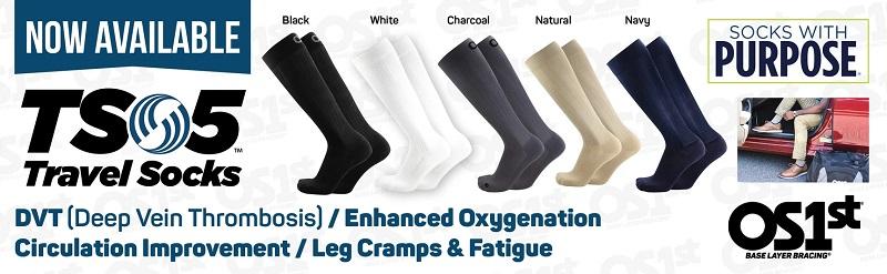 TS5 reiskousen travel sokken