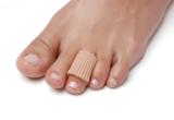Bescherming van likdoorns op de tenen
