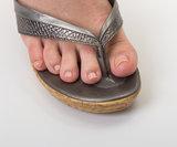 Slipper met voet en beschermer