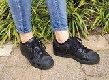 Zilver footies zwart buiten in schoenen