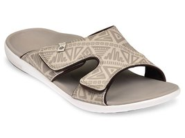 Heren slipper Tribal Slide Oyster Grey (met aanpasbare bovenkant)