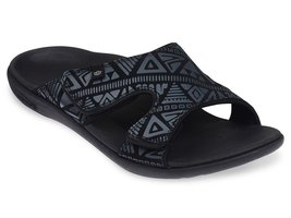 Heren slipper Tribal Slide Black (met aanpasbare bovenkant)
