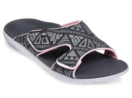 Dames slipper Tribal Slide Dark Shadow (met aanpasbare bovenkant)