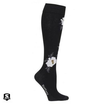 Supcare steunkousen white flower