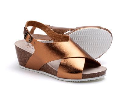 Suecos sandalen Ros Brons