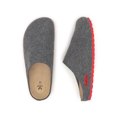 Suecos HEM heren pantoffels Grijs-Rood