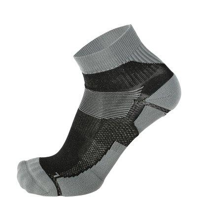 Skafit Sports korte zilversokken Grijs/Zwart