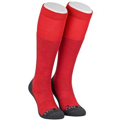 Best4feet Ski Sokken met zilver Fire Red