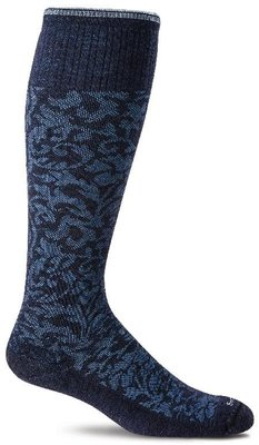 Sockwell compressiekousen dames Damask Navy blue